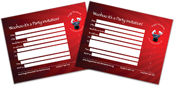 Print your own invitations to your Magic Moments party!